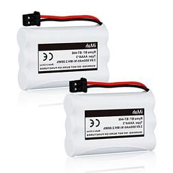 2-Pack iMah Ryme B7 BT-446 BT-1005 Battery Compatible Uniden