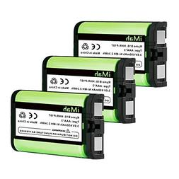 3-Pack iMah Ryme B16 HHR-P107 Phone Battery Compatible Panas