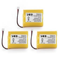 EBL 3 Packs 3.6V 800mAh Cordless Phone Battery Replacement f