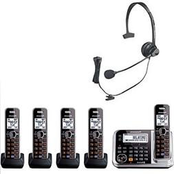 Bluetooth Enabled Panasonic Cordless Phone with Five Cordles