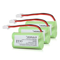 FLOUREON 3-Pack 2.4V 400mAh Cordless Home Phone Battery for