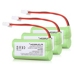FLOUREON 3 Packs Ni-MH 2.4V 800mAh Rechargeable Replacement