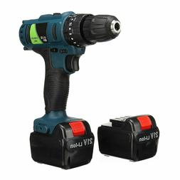 Adjustable 21V Rechargeable Cordless Power Impact Drill Elec