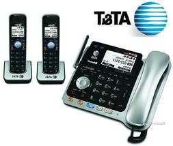 AT&T TL86109 2 Line Connect Cell Bluetooth Corded 2 Cordless