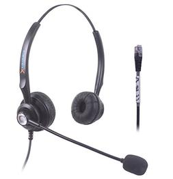 Binaural Call Center Handsfree Telephone Headphone Headset w