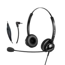 2.5mm Headset with Noise Cancelling Microphone for Call Cent
