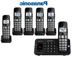 Panasonic Black Expandable Cordless Phone System With 5 Hand