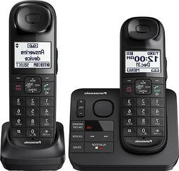 Panasonic Black Expandable Cordless Phone With 2 Handsets