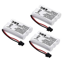EBL Pack of 3 BT-446 Rechargeable Cordless Phone Replacement