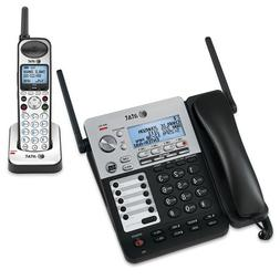 Corded/Cordless Phone, 4-Line, Dect 6.0, Caller ID, BK/SR, S