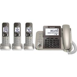 Panasonic Corded Phone with 3 Cordless Handsets - KX-TGF353N