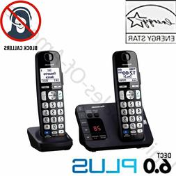 Cordless Phone System 2 Handsets Answer Machine Call Block P