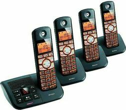 Cordless Phone System 4 Handsets Motorola DECT 6.0 Answering