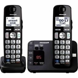 Panasonic Cordless Phone with 2 Handsets KX-TGE232B DECT 6.0