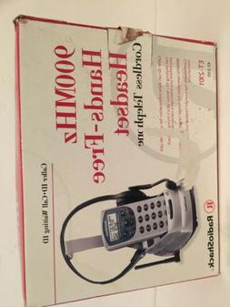 Cordless Telephone. 900 MHz hands-free headset and base unit
