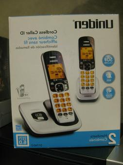 Uniden D1760-2 Cordless Phone w/ Orange Backlit LCD Display