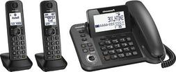 Panasonic - DECT 6.0 Expandable Cordless Phone System with D