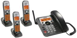 Uniden DECT1588-3T DECT 6.0 Corded/Cordless Digital Answerin