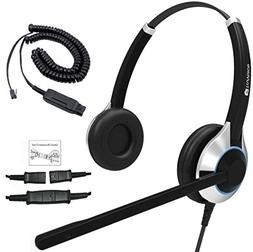 Deluxe Double Ear Noise Canceling Call Center / Office Heads