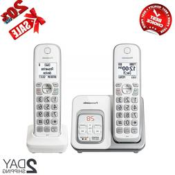 Digital Cordless Home Phone with Answering Machine 2 Handset