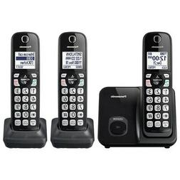 Panasonic Expandable Cordless Phone with 3 Handsets in Black