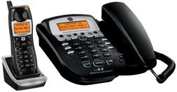 GE 5.8 GHz Black Corded Analog Base Phone with Cordless Hand