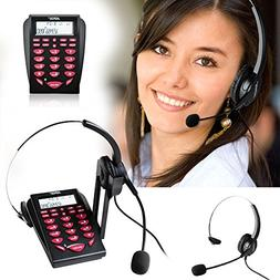 AGPtek Hands-free Call Center Noise Cancellation Corded Mona