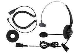 DailyHeadset 2.5 mm Jack Corded Phone Headset QD Over Ear He