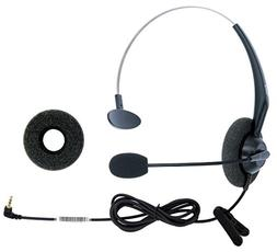 DailyHeadset 2.5mm Jack Hands Free Headset Over Ear Headphon
