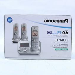 PANASONIC KX-TG4133 SILVER DECT 6.0 CORDLESS PHONE WITH ANSW