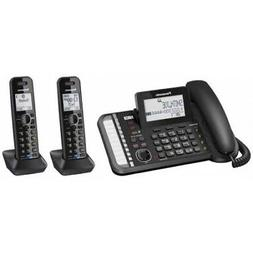 PANASONIC KX-TG9582B 2-LINE 1 CORDED 4 CORDLESS PHONES 1 REP