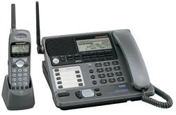 Panasonic KXTG4000B 2.4 GHz DSS 4-Line Cordless Phone with C