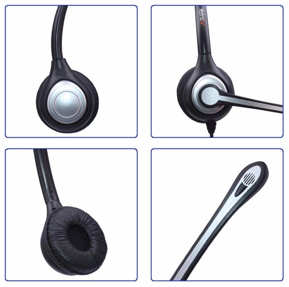 Wantek 2.5mm Telephone Headset for Grandstream Panasonic <font><b>AT&T</b></font> <font><b>Cordless</b></font> Dect