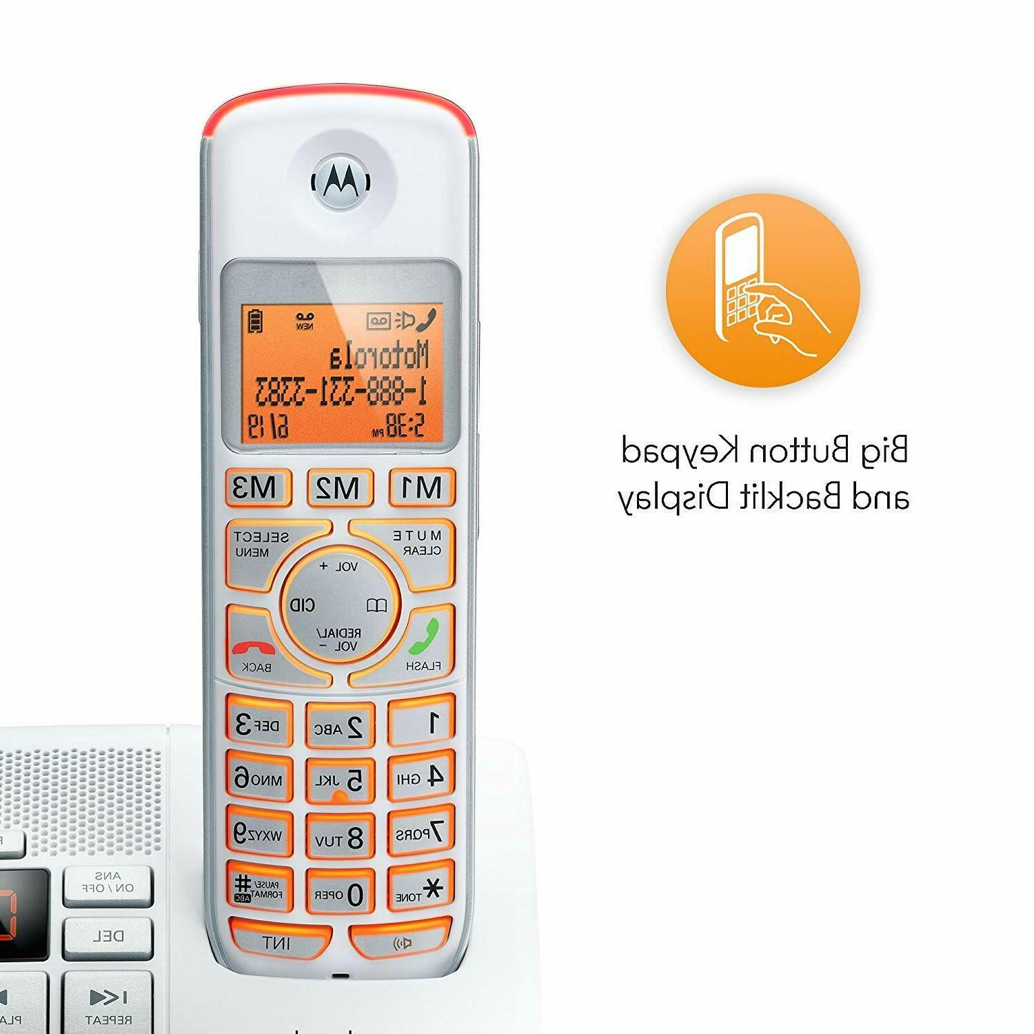 2 Motorola Cordless Digital Home Phone ID Answer System