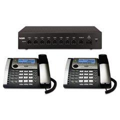 ** 25800 Eight-Line Corded Office Phone System, Router and 2