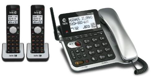 AT&T 2 Handset Corded/Cordless Answering System with Caller