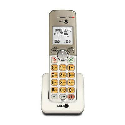 AT&T EL50013 Accessory Cordless Handset, Gold/White | Requir