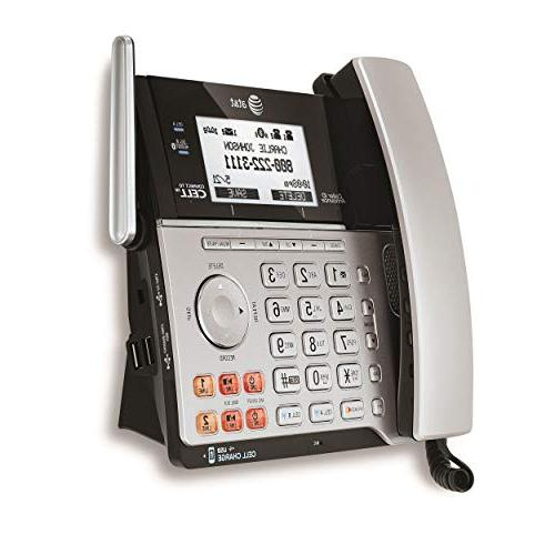 AT&T TL86103 Connect to Cell Line System Caller Waiting, Corded & 1 Cordless Handset,