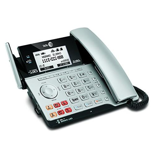AT&T DECT 6.0 Connect Line with Caller ID/Call Waiting, Corded & Handset, Silver/Black