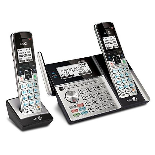 AT&T TL96273 Expandable Phone Bluetooth to Answering System Base Speakerphone, 2 Silver/Black