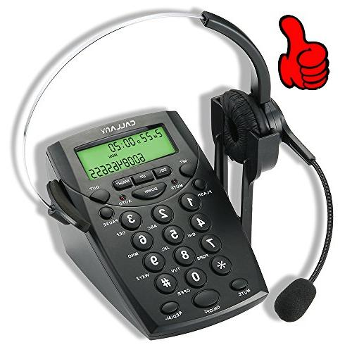 CALLANY Call Center Telephone with Noise Cancellation Headse