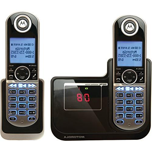 Motorola DECT 6.0 Cordless Phone with 2 Handsets, Digital An