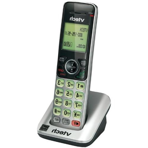 VTech CS6609 Accessory Cordless Handset, Silver/Black | Requ