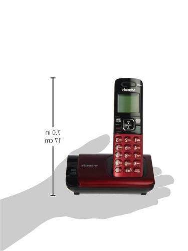 VTech DECT Phone with Caller Waiting, Handset, Red