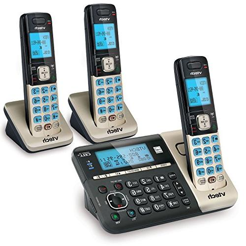 Vtech Ds6751-3 Dect 6.0 Expandable Cordless System With Cell Digital -