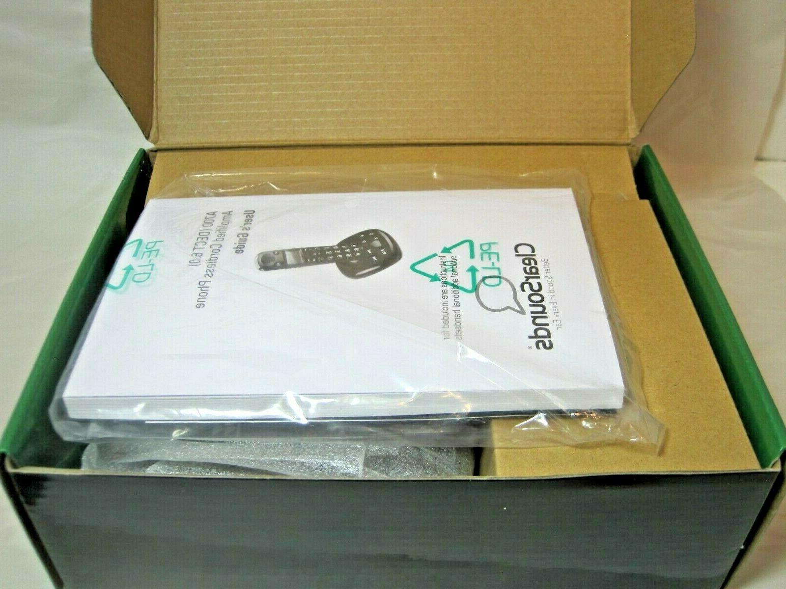 ClearSounds DECT Amplified Cordless w/Answering NEW