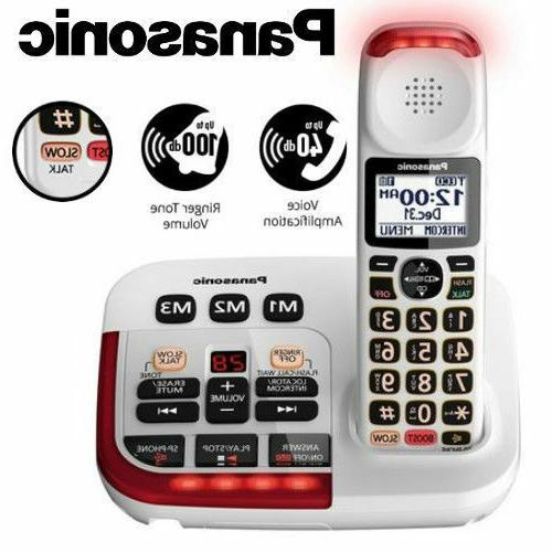 amplified cordless phone digital answering machine visual