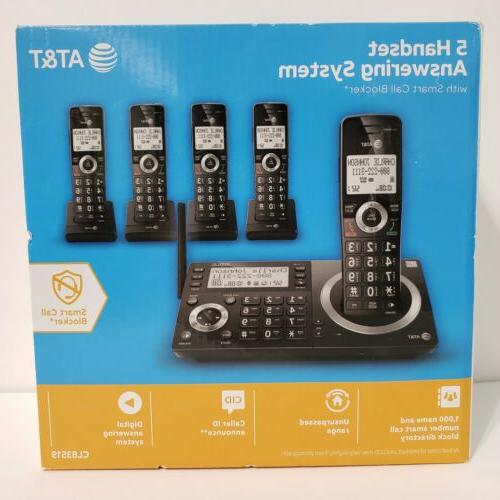 at and t 5 handset answering system