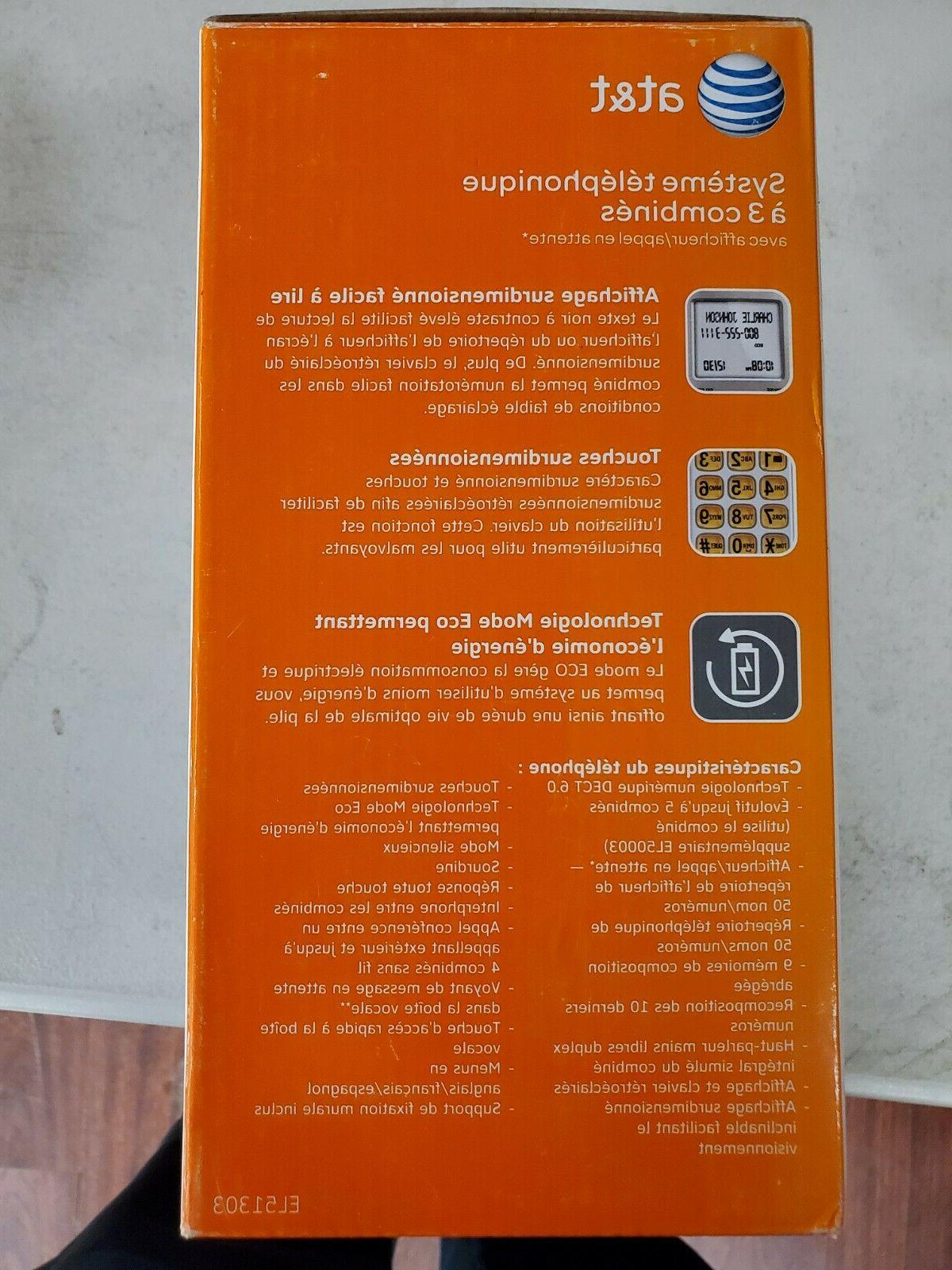 At&t 3 handset phone system