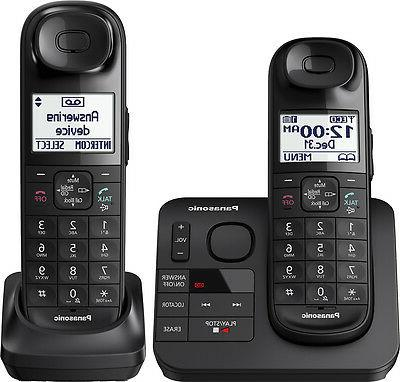 black expandable cordless phone